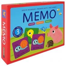 , Memo Eerste woordjes-Dieren Memo Premiers mots-Animaux