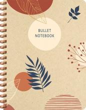 ZNU , Botanical Kraft spiraalboek groot (bullet)