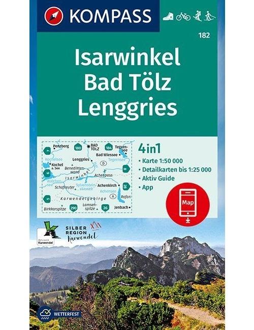 Kompass-Karten Gmbh,Isarwinkel, Bad Tölz, Lenggries 1:50 000