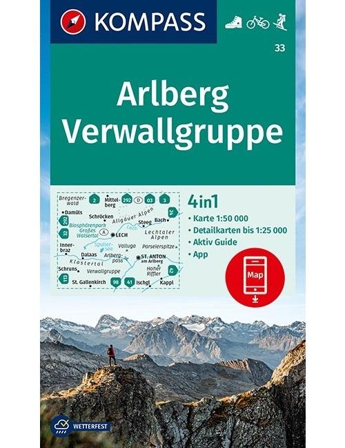 ,Kompass WK33 Arlberg, Verwallgruppe