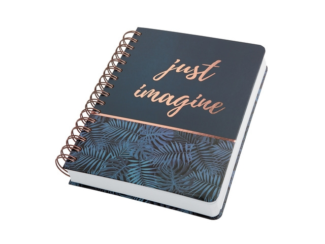 ,Notitieboek Sigel Jolie A5 spiraal Mystic Jungle