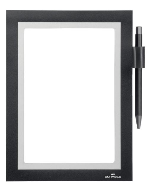 ,Duraframe Durable 499401 Note A5 zelfklevend zwart