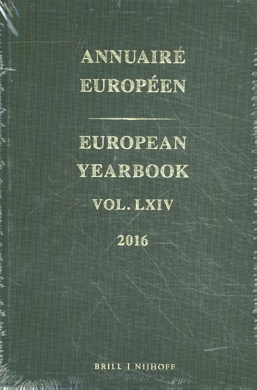 ,Annuaire Européen vol. LXIV 2016