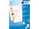 ,inkjetpapier Avery A4 200gr wit mat doos a 25 vel