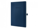 ,notitieboek Sigel Conceptum Pure softcover A4 blauw geruit