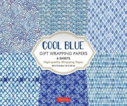 Tuttle Publishing Cool Blue Gift Wrapping Papers