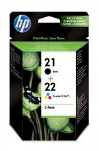, Inktcartridge HP SD367AE 21 + 22 zwart + kleur