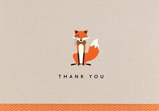 Dapper Fox Thank You Notes