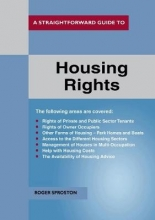 Sproston, Roger Straightforward Guide To Housing Rights Revised Ed. 2018