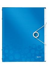 , Sorteermap Leitz WOW PP 6-delig blauw