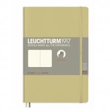 Lt358325 , Leuchtturm notitieboek softcover 19x12.5 cm blanco sand