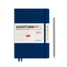 Lt362097 , Leuchtturm agenda 2021 a5 1 dag pp navy
