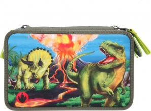 , Dino world 3-vaks etui led