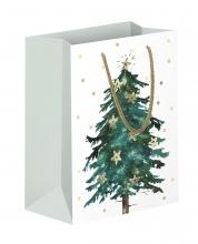 , Geschenktas met kerstboom 18x21