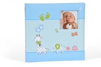 Babyalbum baby momenst blauw