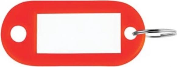 , Sleutellabel Pavo kunststof rood