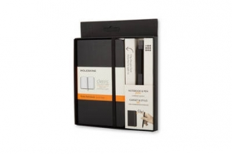 Moleskine Pocket Notebook And Classic Click Roller Pen - 0.5