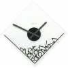 <b>NeXtime Dropped Numerals - Klok - Vierkant - Glas - 35x35 cm - Zwart</b>,