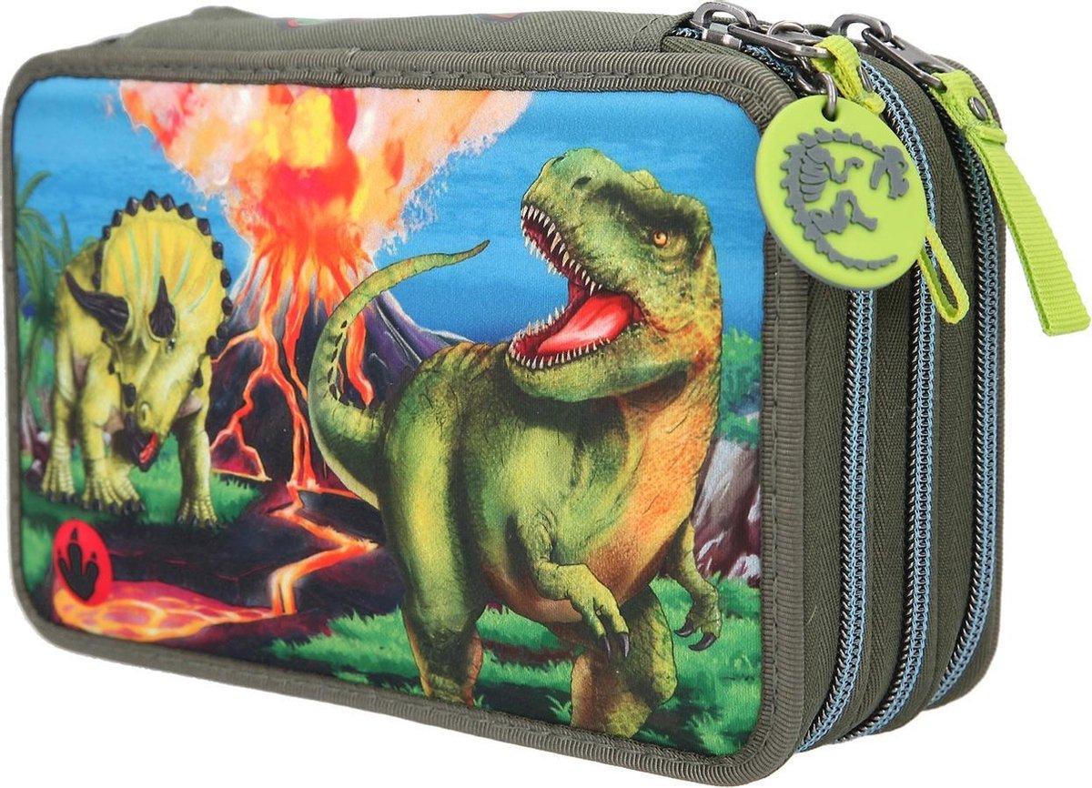 ,Dino world 3-vaks etui led