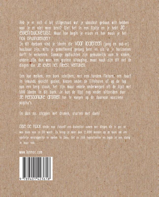 Elise De Rijck,Het Bucketlist boek