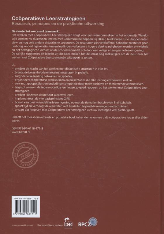 Spencer Kagan, Miguel Kagan,Cooperatieve Leerstrategieen