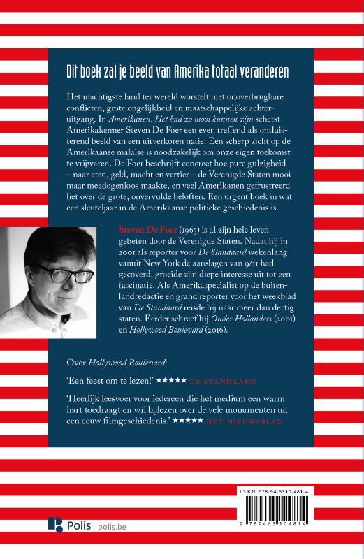 Steven De Foer,Amerikanen