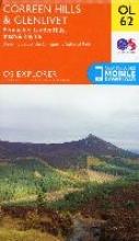 Ordnance Survey,Correen Hills & Glenlivet, Bennachie & Ladder Hills, Insch & Rhynie