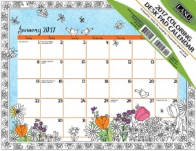 Cal 2017 Cheerful Journey 2017 Deskpad (Coloring)