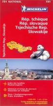 Michelin wegenkaart 731 Tsjechie - Slowakije