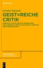 Hannak, Kristine Geist=reiche Critik