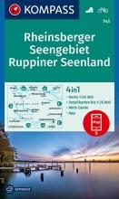 KOMPASS-Karten GmbH , KOMPASS Wanderkarte Rheinsberger Seengebiet, Ruppiner Seenland 1:50 000