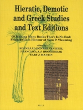 Hieratic, Demotic and Greek Studies and Text Editions