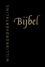 , Bijbel (Willibrordvertaling) in leer met goudsnee, rits en koker (zwart)