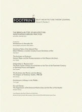 , Footprint 17 Vol 9/2 The `bread & butter`of architecture: investigating everyday practices