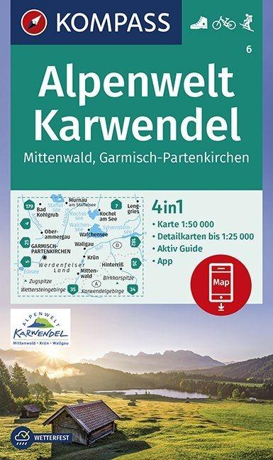 ,Alpenwelt Karwendel Mittenwald, Garmisch-Partenkirchen 1:50 000