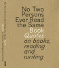 Bart Van Aken Gert  Dooreman,NO TWO PERSONS EVER READ THE SAME BOOK - QUOTES ON BOOKS, READING AND WRITING