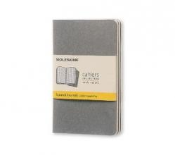 Moleskine Pebble Grey Squared Cahier Pocket Journal (3 Set)