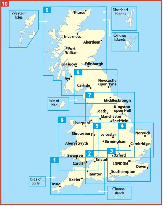 ,East Anglia Road Map