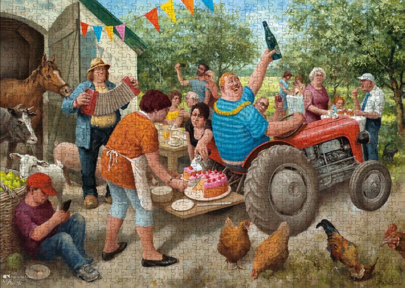 ,Marius van Dokkum - Tuinfeest  -  Puzzel 1000 stukjes
