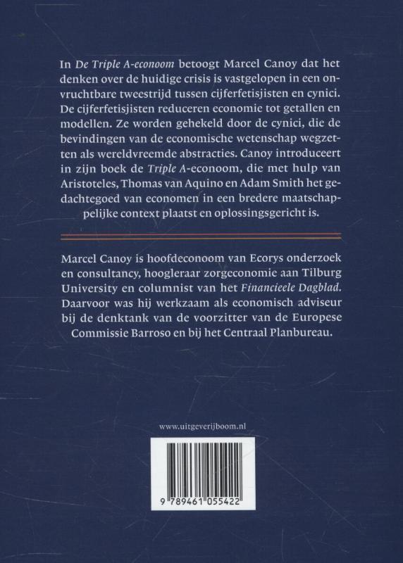 Marcel Canoy,De triple A-econoom