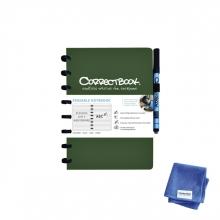 , Notitieboek Correctbook A5 lijn 40blz forest green