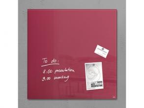 , glasmagneetbord Sigel Artverum 480x480x15mm bessenrood