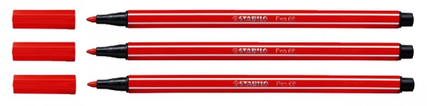 , Viltstift STABILO Pen 68/48 karmijnrood