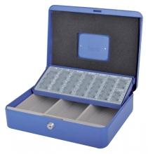 , Geldkist Pavo met muntsorteerbak 300x240x90mm blauw