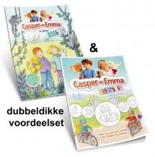 , Casper en Emma PAKKET doeboek + kleurboek