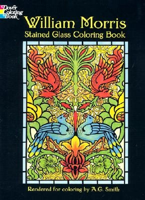 William Morris,William Morris Stained Glass Coloring Book