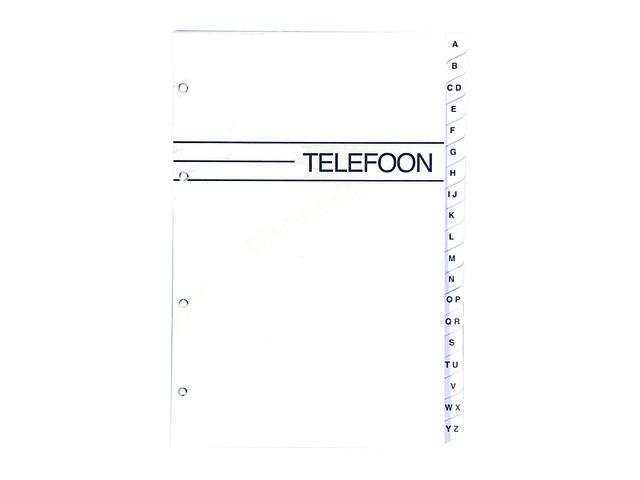,Telefoonalbum KTC large navulling A-Z 4-rings