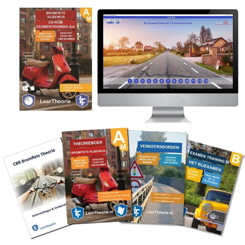,Theorieboek Scooter 2020 Rijbewijs B Bromfiets Theorieboek Brommer Theorie Samenvatting Verkeerborden overzicht Praktijk informatie CD-ROM met scooter theorie-examens