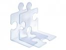 ,boekensteun HAN Puzzle set a 2 stuks signal lichtblauw