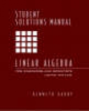 Kenneth Hardy Student Solutions Manual for Linear Algebra for Engineers and Scientists Using Matlab